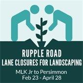 Rupple Road Lane Closures
