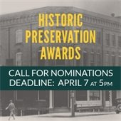 Seeking Nominations for 2017 Historic Preservations Awards