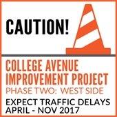 College Avenue Traffic Delays