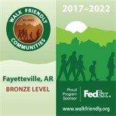 Fayetteville Awarded Bronze Walk Friendly Community Designation