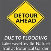Detour at Lake Fayetteville and BGO