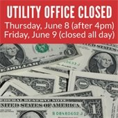 Utility Office/Cashier Closed