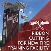 Fire facility ribbon cutting