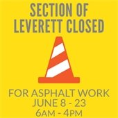 Leverett closed for asphalt work