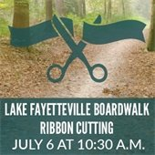 Lake Fayetteville Boardwalk Ribbon Cutting
