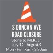 S Duncan Road Closure