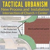 Tactical Urbanism Process and Installation at Church and Center