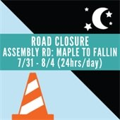 Assembly Road closure 24 hours day