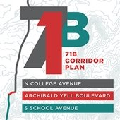 71B Corridor Plan:  North College Avenue, Archibald Yell Boulevard, South School Avenue