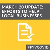March 20 Update: Efforts to help local businesses