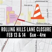 Rolling Hills Drive Closure