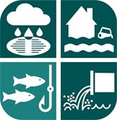 Logo of the City of Fayetteville's Study for Flood Management and Water Quality Funding