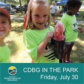 CDBG in the Park, Friday, July 30