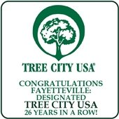 Congratulations Fayetteville: Designated Tree City USA 26 years in a row!