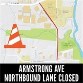 Armstrong Avenue Northbound Lane Closed