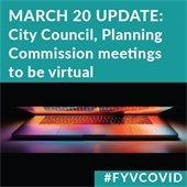 March 20 Update: City Council, Planning Commission meetings to be virtual