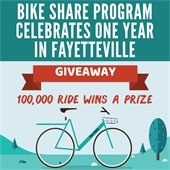 Bike Share Program Celebrates One Year in Fayetteville