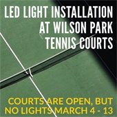 Installation of New Lighting at Wilson Park Tennis Courts
