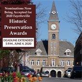 Deadline Extended for 2020 Fayetteville Historic Preservation Awards