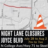 Night Lane Closures Joyce Blvd