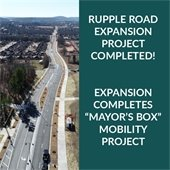 """Rupple Road Expansion project completed: Expansion completes Mayor's Box"""" mobility project"""