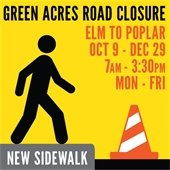 Green Acres Road Closure