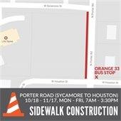 Sidewalk Construction Porter Road