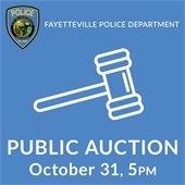 Fayetteville Police Department Public Auction