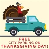 Free parking thanksgiving day