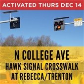 HAWK Signal at Collge