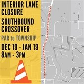 Crossover Lane Closure