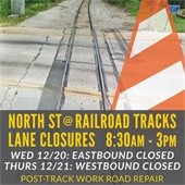 North Street Lane CLosures at Railroad Tracks