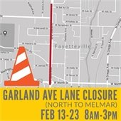 Garland Ave Lane Closure