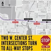 New Stops on Center Street
