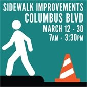 Sidewalk Improvements Along Columbus Boulevard