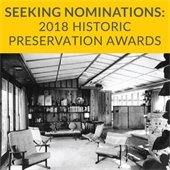 Seeking Nominations for 2018 Historic Preservation Awards