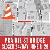 Prairie St Closed