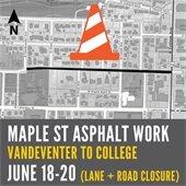 Asphalt work on Maple