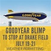 Goodyear blimp at Drake Field