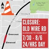 Old Wire Road Closure