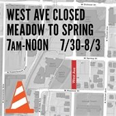 West Ave Closed