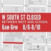 W. South Street closed