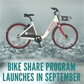 Bike Share Program Launches in September