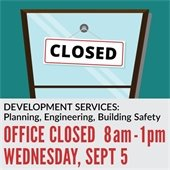 Development Services Closed