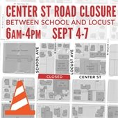 Center Street Road Closure