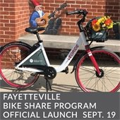 Fayetteville Bike Share Program Launch