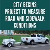 Project to Analyze City Roads and Sidewalks Begins