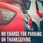 No charge for parking on Thanksgiving