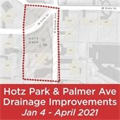Hotz Park & Palmer Avenue Drainage Improvements, Jan. 4 - April 2021