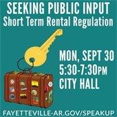 Public Input Short-Term Rental Regulation